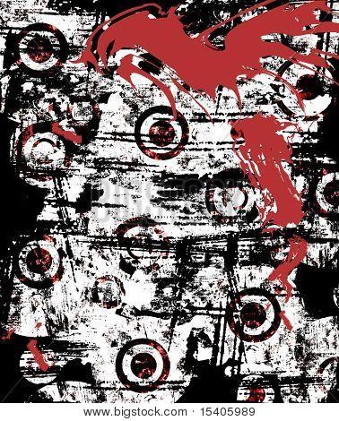 Grunge Splatter Wall