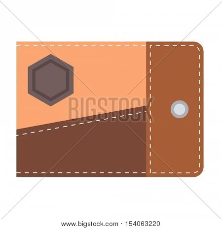 Purse wallet vector isolated
