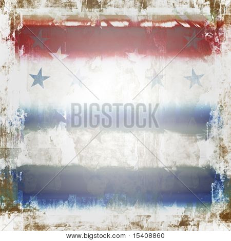 Patriotic Stars and Stripes Grunge