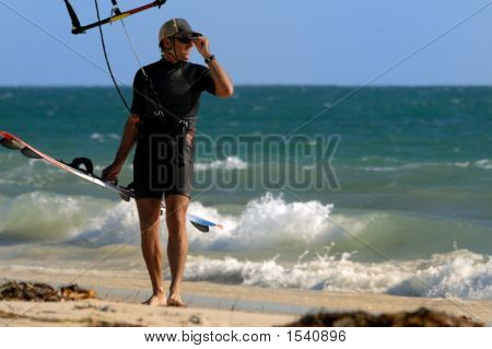 Posing Kite Surfer
