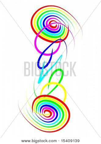 Vector Colorful Spirals Connection