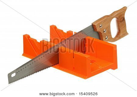 Hacksaw and miter box