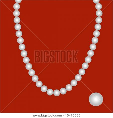 Vector String Of Pearls With Brush