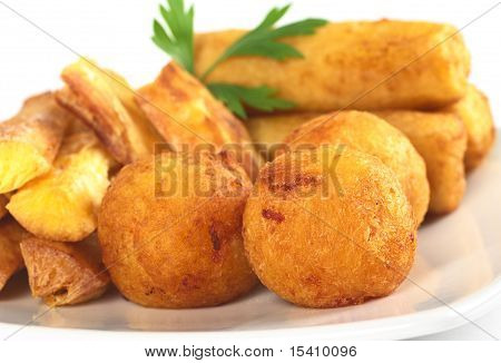 Filled fried balls