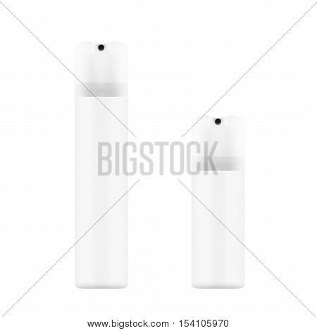 White Bottle With Sprayer For Cosmetic, Perfume, Deodorant, Freshener