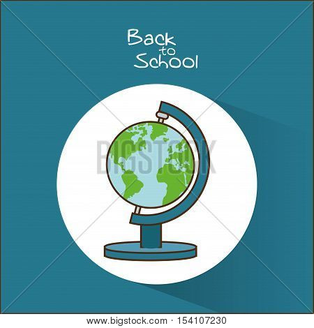 Planet sphere icon. Back to school theme. Colorful design. Vector illustration