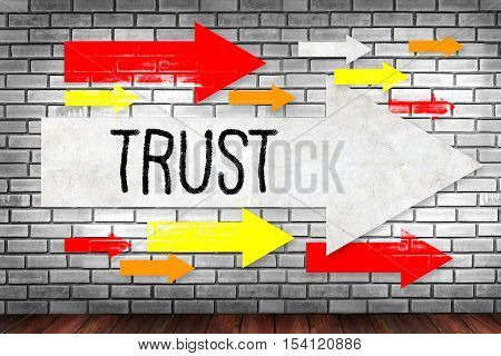 TRUST Business Concept and TRUST FUND confidence