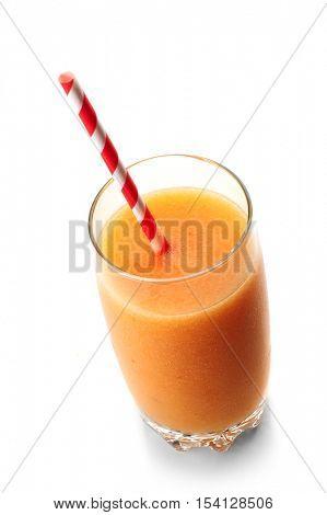 Image of orange juice with white background