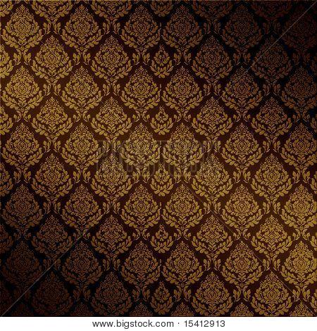 Seamless Dark Damask Background, See Vector Also In My Portfolio