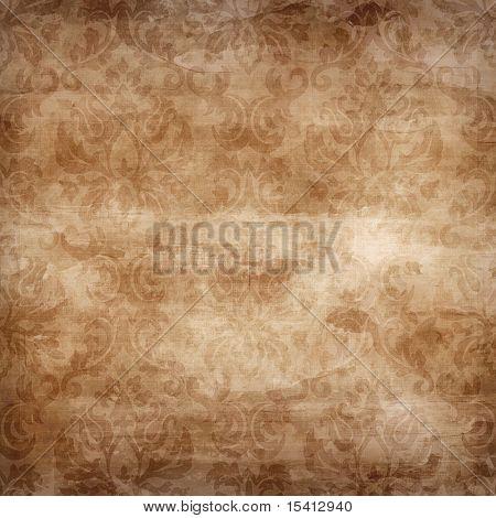 Large Seamless Damask Grunge Background
