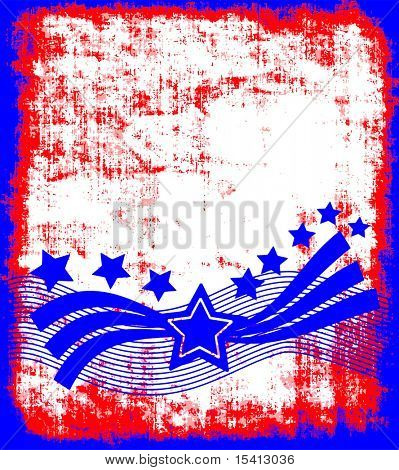 Vector Patriotic Background Grunge, See Jpeg Also In My Portfolio