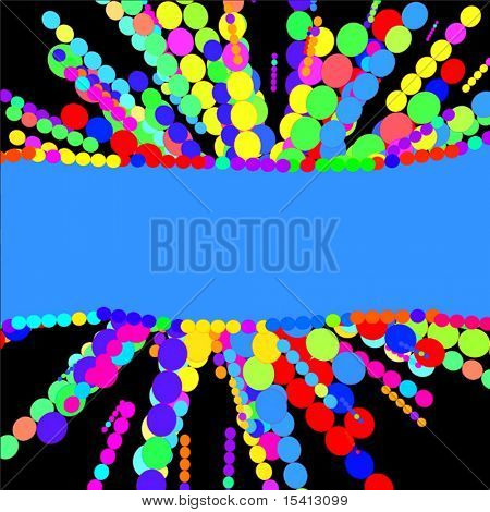 Vector Color Burst With Banner, See Similar Jpeg In My Portfolio