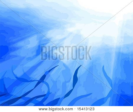 Vector Underwater Scene, See Jpeg Also In My Portfolio