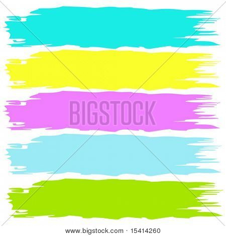 Vector Color Brushstrokes In Pastels