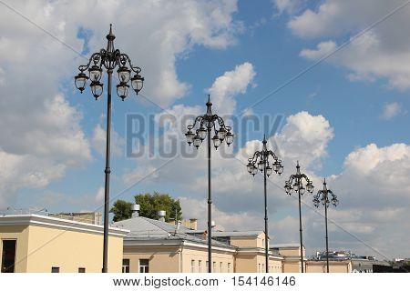 The Lanterns on Patriarchal bridge , Moscow