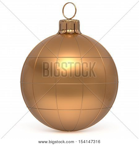 Christmas ball New Year's Eve decoration world globe Earth planet bauble golden shiny international wintertime hanging adornment. Global universe ornament Merry Xmas happy winter holidays