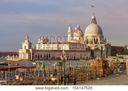 basilica Santa Maria della Salute on the Grand Canal in Venice, Italy