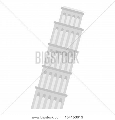 Pisa tower icon. Flat illustration of Pisa tower vector icon for web