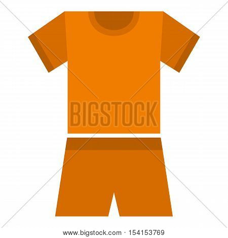 Sport clothes icon. Flat illustration of sport clothes vector icon for web