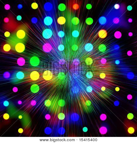 XL Colorful Lights On Fireworks