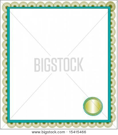 Vector Certificate With Seal
