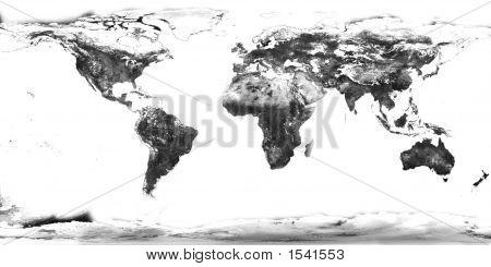 World Map Bw