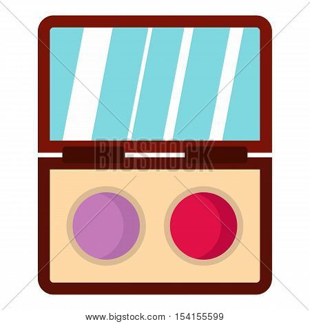 Eye shadow icon. Flat illustration of eye shadow vector icon for web