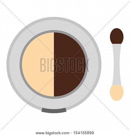 Round eye shadow icon. Flat illustration of round eye shadow vector icon for web