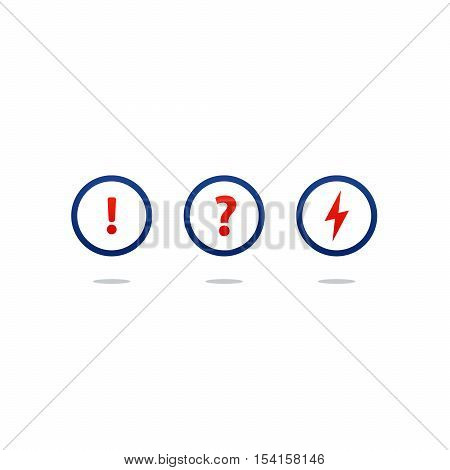 Flat design vector illustration. Round icons, poll concept
