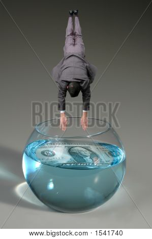Man Diving To Bowl