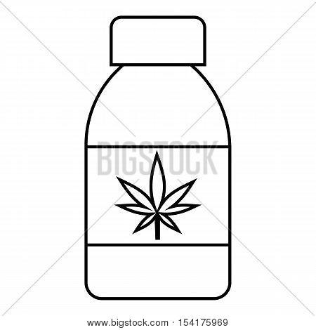 Jar of powder marijuana icon. Outline illustration of jar of powder marijuana vector icon for web