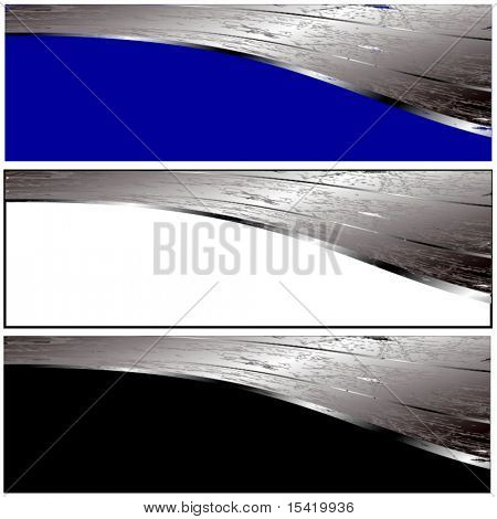 Vektor-metallic Grunge Banner