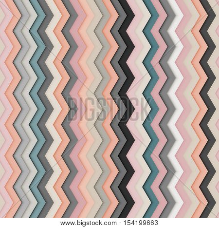 Repeating seamless zig zag background pattern, eps10 vector