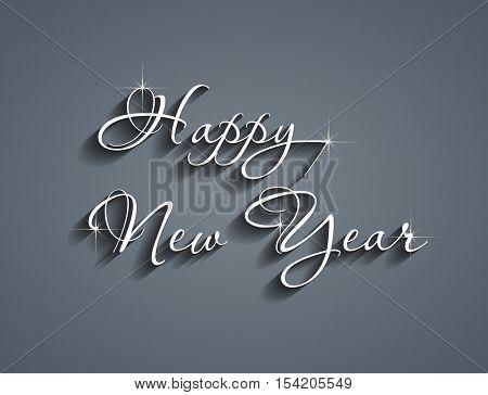 Happy new year elegant text design