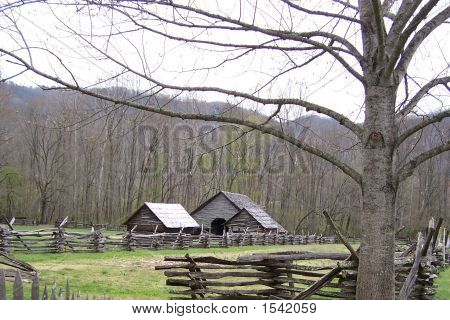 Appalachian Farm In Great Smoky Mountains National Park