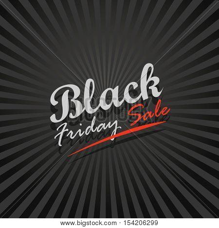Black Friday sale logo design template. Black Friday sale vector banner