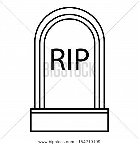 Grave RIP icon. Outline illustration of grave RIP vector icon for web