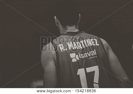 VALENCIA, SPAIN - OCTOBER 30th: Rafa Martinez during spanish league match between Valencia Basket and Morabanc Andorra at Fonteta Stadium on October 30, 2016 in Valencia, Spain