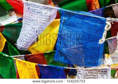 Tibetan Buddhism prayer flags (lungta) with