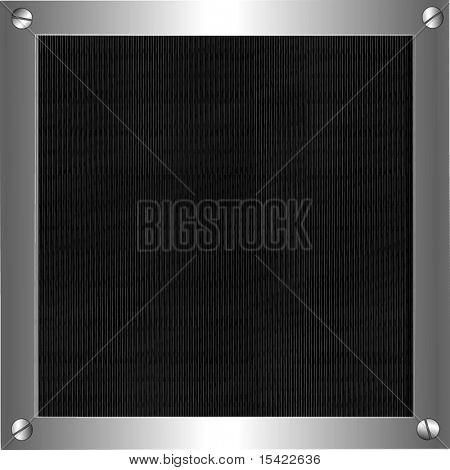 Vector metálica o filtro en el marco del Metal