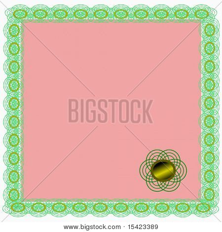 Vector Certificate With Gold Seal
