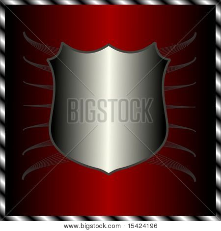 Vector Silver Shield