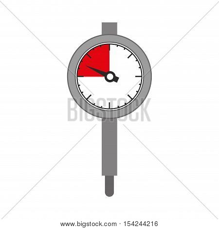 silhouette gray micrometer with gauge needle vector illustration