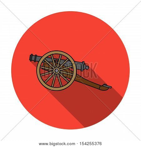 Cannon icon in flat style isolated on white background. Museum symbol vector illustration.
