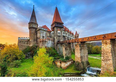 Hunyad Castle / Corvin's Castle in Hunedoara Romania.