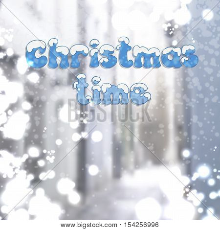 Design a Christmas card with a snow covered walkway
