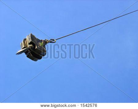 Crane Swinging Through The Air