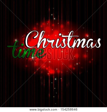 Christmas background in red tones and inscription