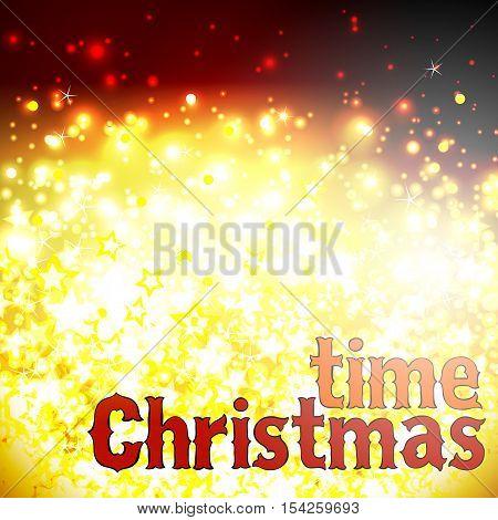 Christmas background with festive illumination and inscription