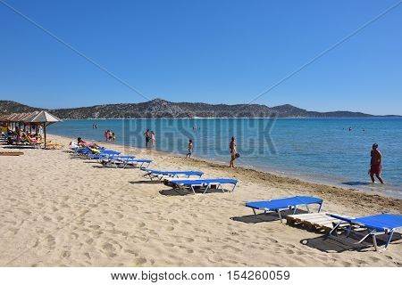 Schinias Sandy Beach, Marathon, Greece